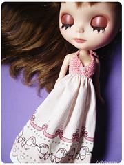 Ready to go home (Sabrina Eras) Tags: girl bigeyes dress blythe custom sabrinaeras mimichocolat