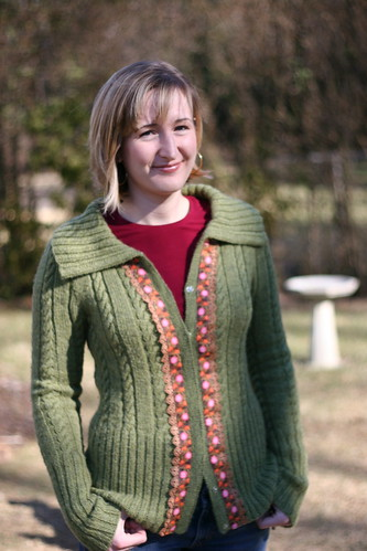 Ribbon Trim Cardigan