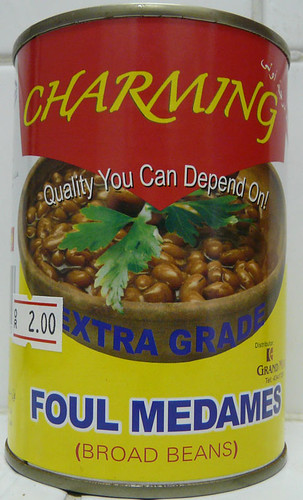 Beans with the brandname Charming and the words