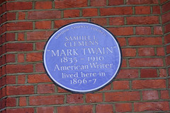 Photo of Samuel L. Clemens blue plaque