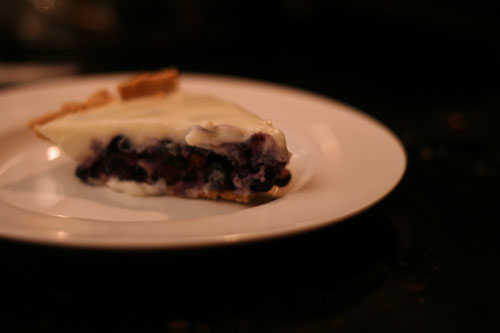 Light Blueberry Pie in a Jiffy