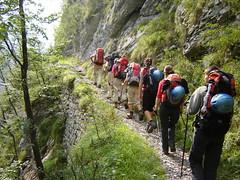 Auf dem Dolomitenhöhenweg Nr. 1 kurz vor Belluno