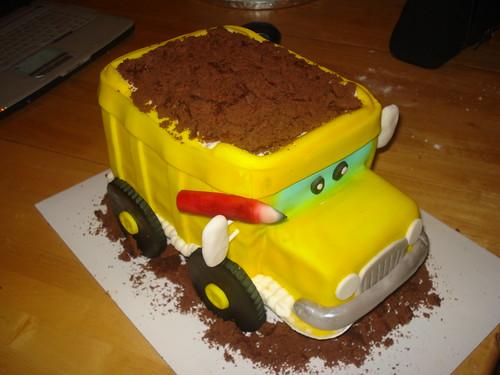 Dump truck cake www.charleyandthecakefactory.com $ 65.00