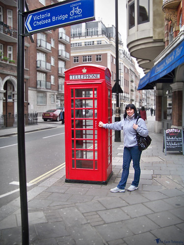 Edna by a Phone Booth
