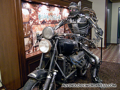 A metal biker