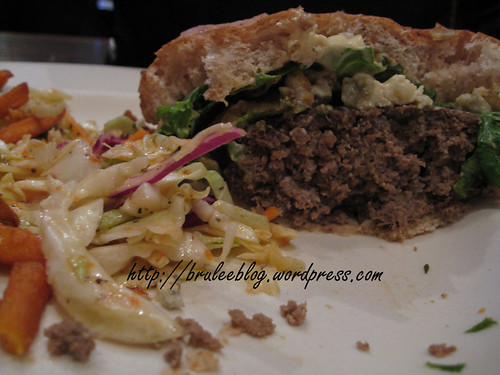 the giant beef patty with surprise coleslaw