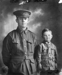 Father and son, 1916 (Australian War Memorial collection) Tags: family boy portrait army uniform child military father son worldwari firstworldwar armedforces poignant australianwarmemorial