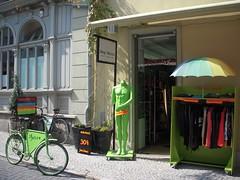 Reduced (elmada) Tags: green bike bicycle shop germany deutschland weimar clothing sale reduced elmada clothingshop jrgwtzel