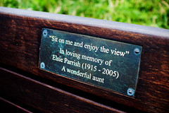 """Sit on me and enjoy the view' (Damien Cox) Tags: uk bench seat sigma30mmf14exdchsm nikond40 damiencox snaptweet sitonmeandenjoytheviewstivescornwallkernow dcoxphotography"