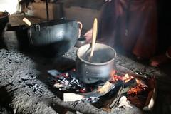 Feuerstelle in dem Haus des Tuchhändlers in Haithabu 09-07-2009