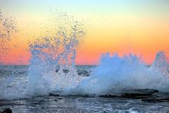 Sunset (LIVEILLUSION photography) Tags: ocean sunset orange beach water rocks waves sydney australia splash northernbeaches ef247028l turimetta 5dmark2