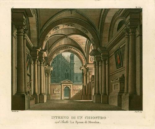 004- Interior de un claustro en el baile La novia de Messina-1827