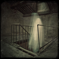 Phenomena (Midnight - digital) Tags: old longexposure abandoned strange stairs vintage square scary ghost eerie haunted creepy spooky urbanexploration mysterious horror attic spectre apparition ectoplasm phenomena urbex abandonedhospital alarecherchedutempsperdu midnightdigital christophedessaigne alankarddek