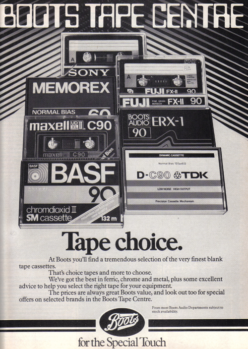 Vintage Ad #862: Choices from the Boots Tape Centre