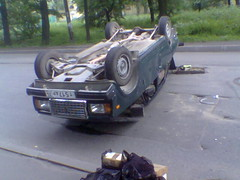 Lada accident (Skitmeister) Tags: skitmeister lada vaz жигули лада ваз петербург crash petersburg russia россия avtovaz автоваз zhiguli jiguli žшпгдш žiguli