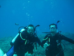 Dive master took a picture of us