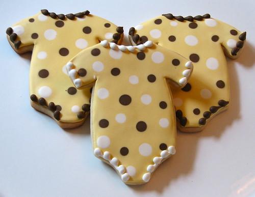 Polka-Dot Onesie Cookies