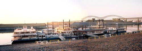 bridge sunset shop memphis gift riverboat rides riverbank 1985 desoto