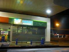 Topaz station at night