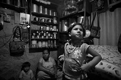 Family of a conservancy worker, Nashik (Soumik Kar) Tags: poverty india girl july bombay mumbai economy 2009 slums urbanpoor nashik eme soumikkar municipalworker conservancyworker milindranade