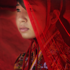 RED VEIL (ajpscs) Tags: street red portrait people girl face festival japan asian japanese tokyo interestingness nikon asia veil faces ceremony streetphotography explore mysterious  nippon  kanda matsuri  d300 kandamyojin kandamatsuri redcloth   disguises hiddenbeauty  obscures ajpscs conceals veiledher protectorconceal finematerial
