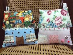 .:. Almofadas Casas .:. (Bonecos de Pano .Com) Tags: casa decorao almofada almofadacasatecido
