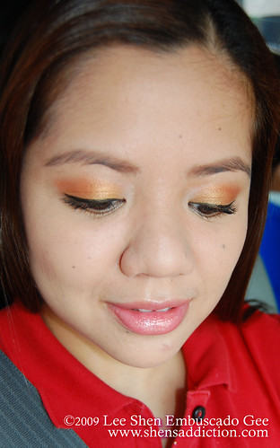 fotd barenaturals firey orange by you.