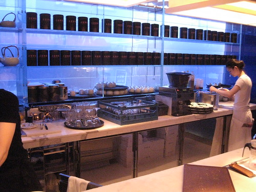 yauatcha tea brewing area