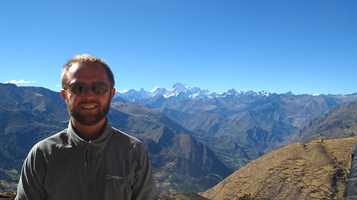 Feeling fresh on Day 1 with the Cordillera Huayhuash behind me