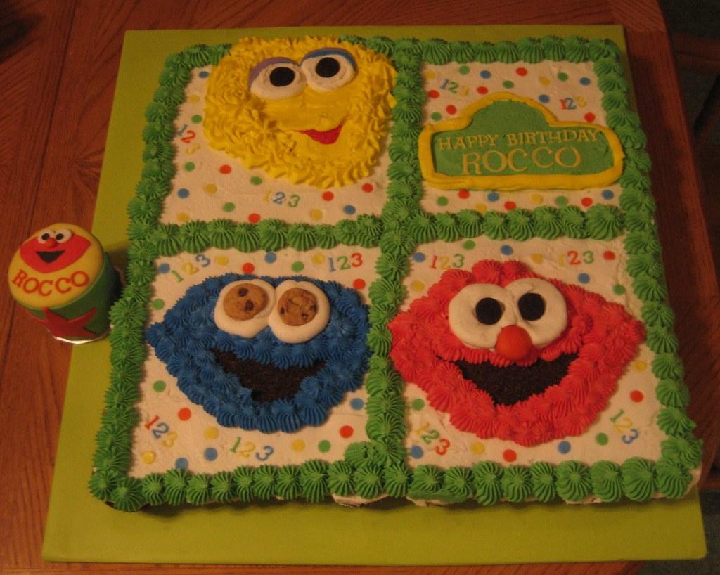 Sesame Street Cupcake Cake & Smash Cake