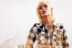 Tina (Chaz Boyd) Tags: woman sun grass tattoo model nikon 14 85mm tina buckscounty d90