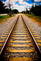 On The Right Track... (eyecbeauty) Tags: railroad sky beautiful vanishingpoint traintracks tracks railway railroadtracks polestar beautifulphoto superphotographer colorphotoaward flickraward platinumheartaward theperfectphotographer thebestshot grouptripod colorsofthesoul artofimages youscore platinumbestshot bestcapturesaoi flickrunitedaward favtop20 thebestofcengizsqueezeme2groups bestofbeautiful
