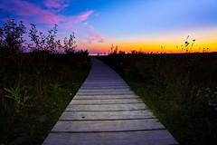 Summer Daze (pbruch) Tags: longexposure canada night clouds nationalpark lakehuron sunet startrails emptybeach