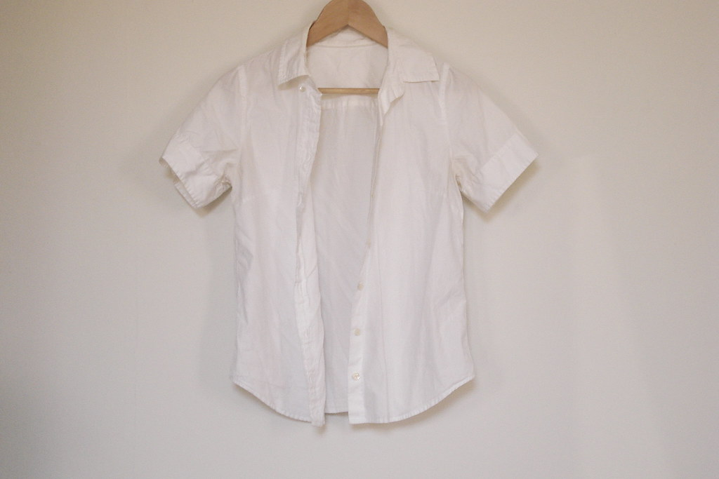 Jcrew short-sleeved collared shirt