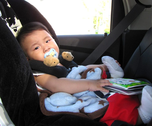 1st time in carseat 1