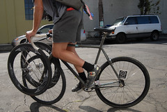 A front rack for carrying wheels-7