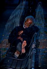 Fallen (asleep) (alan shapiro photography) Tags: nyc sleeping angel canon bench wings sleep manhattan homeless barefoot rest riversidedrive shoeless alanshapiro ashapiro memorycornerportraits canont1i 2010alanshapiro alanshapirophotography wwwalanwshapiroblogspotcom 2010alanshapirophotography