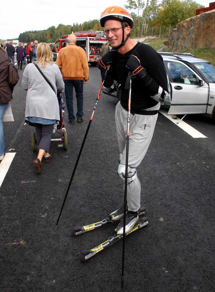 A very upset skier