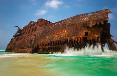 (Andrea Cucconi) Tags: ocean africa longexposure summer holiday verde praia photo cabo nikon flickr foto estate playa atlantic agosto wreck spiaggia vacanze chaves oceano relic relitto atlantico boavista capoverde carcasa 1735 salrei d80 boaesperana abigfave cabosantamaria andreacucconi panoramafotogrfico bubista bofareira