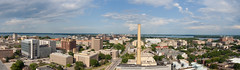 Madison, WI panorama (billrdio) Tags: city sky panorama clouds landscape rooftops horizon capital wideangle capitol madison uwmadison