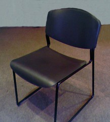 Extra Wide Black Stack Chair