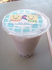 Naan Stop: taro milk tea with boba