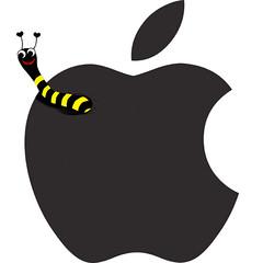 Mask i äpplet
