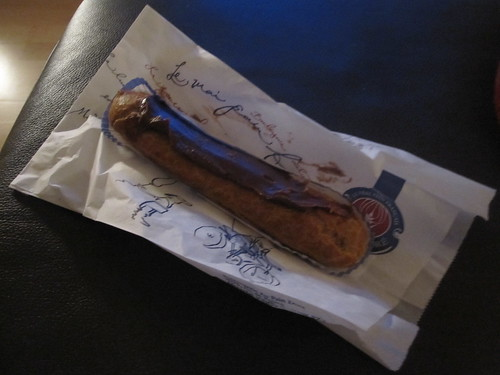 Chocolate éclair from Au Pain Doré