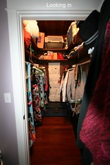 Turning a walk-in closet into a semi-nursery