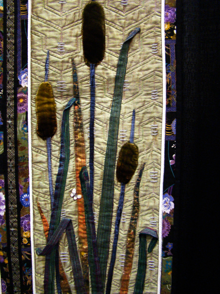 DSC02703 Quilt 1086 Heron Happiness by Kathy McNeil reed detail