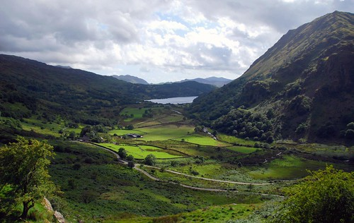the welsh countryside near snowdonia