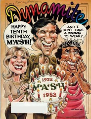 Dynamite magazine cover: M*A*S*H (andwhatsnext) Tags: kids vintage magazine scans retro 80s 70s americana covers dynamite eighties seventies dynamitemagazine clickamericanacom