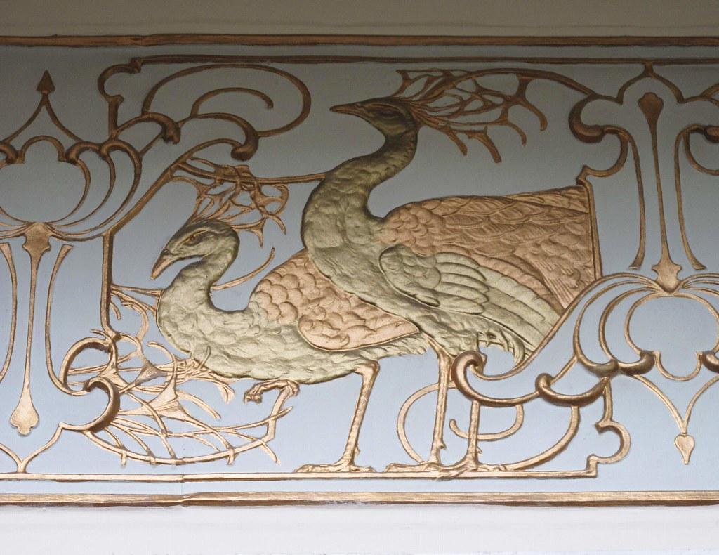 Jollys Bath - Art Nouveau Peacock Frieze #1