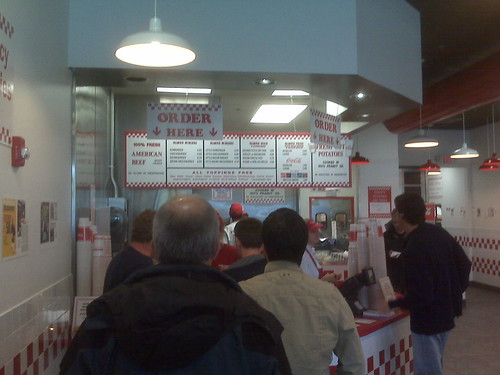 Waiting in Line at Five Guys